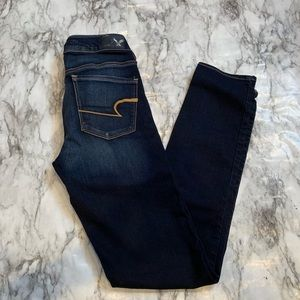 American Eagle Dark Wash Skinny Jeans Blue
